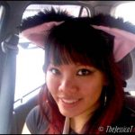 "So cute! My fluffy adorable ""nekomimi"" black cat ears from Comic Fiesta 2010"