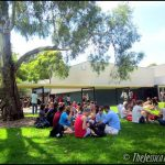 Look ma, I'm sitting on the grass! | Monash International Exchange student orientation week