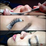 Flirty and pretty eyelash extensions by Pink Passion!